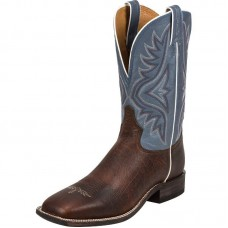 Bota Tony Lama Pecan Bison Baltic Blue