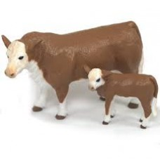 Brinquedo Hereford Cow & Calf