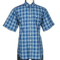 Camisa Cinch Blue Plaid Short Sleeve